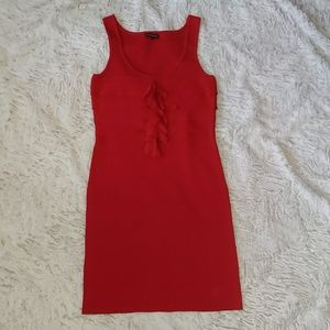 Red express bandage body con dress size small